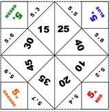 Multiplication 5 Table  Fortune Teller