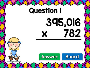 Multiplication 6 Digit by 3 Digit Powerpoint Game