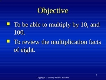 Common Core 4th -  Multiplication 6 - Multiplying by 10 and 100