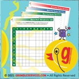 Multiplication Facts Table 10x10 blank grid Elementary Mon