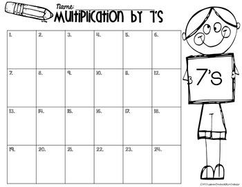 Multiplication 7's