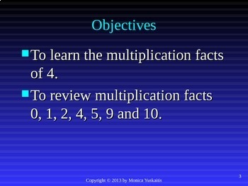 Common Core 3rd - Multiplication 8 - Multiplying by 4 and Review