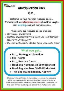 Multiplication: 8 x _ Strategies