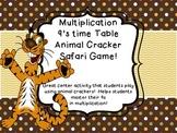 Multiplication 9's times Table facts Animal Cracker Safari Partner Center Game