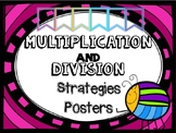 Multiplication AND Division Strategy Posters NEON