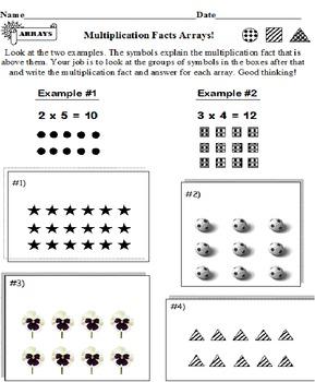 Multiplication ARRAYS (7 Worksheets)