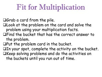 Multiplication Active Activity