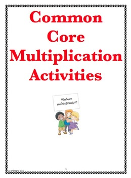 Multiplication Activies - Common Core