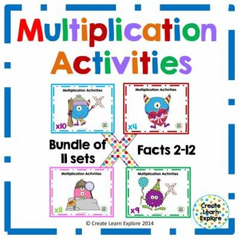 Multiplication Activities Monster Theme
