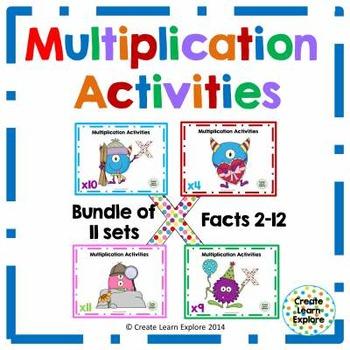 Multiplication Activities Monster Theme