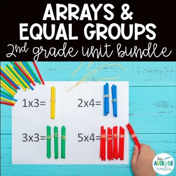 Multiplication Activities  (Arrays and Equal Groups) for 2nd Grade BUNDLE