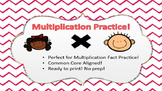Multiplication Activities - Common Core Aligned