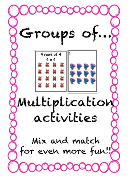 Multiplication Activities Groups of ...