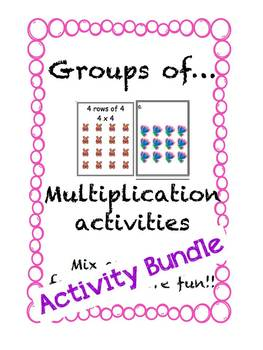 Multiplication Activities Groups of ... BUNDLE