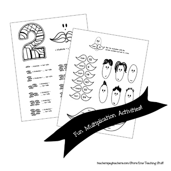 Multiplication Activities Times Tables - Number 2