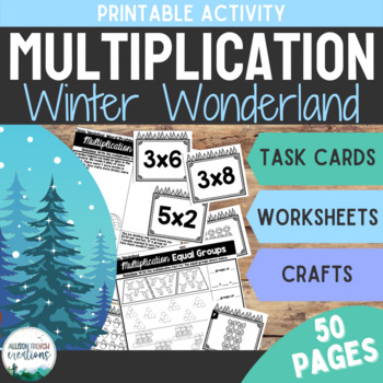 Multiplication Activities Winter Wonderland