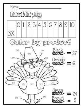 Multiplication Activities for 3