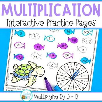 Multiplication Activities for each Multiplication Fact