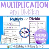 Multiplication and Division Games for each Fact