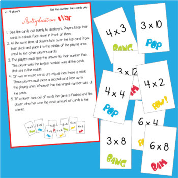 Multiplication Activities with Bingo and other Card Games