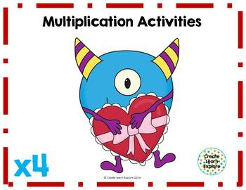 Multiplication Activities x4