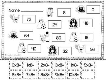 Multiplication Activities x8