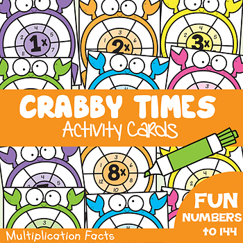Multiplication Activity Cards - Crabby Times