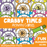 Multiplication Math Activity Game Cards - Crabby Times