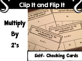 Multiplication Activity -  Clip It and Flip It 2's Set