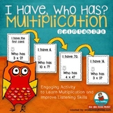 """Multiplication Activity """"I Have..Who Has?"""" 