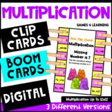 Multiplication Boom Cards, Clip Cards, TpT Digital: Multiplication Fact Practice