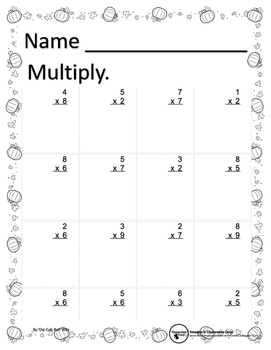 Multiplication, Addition and Subtraction Fall Pack