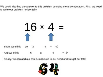 Multiplication Algorithm: multiplying a two-digit number by a one-digit number