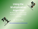 Multiplication Algorithm: multiplying a two-digit number b