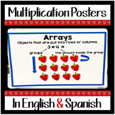 Multiplication Anchor Charts Bulletin Board in English & Spanish