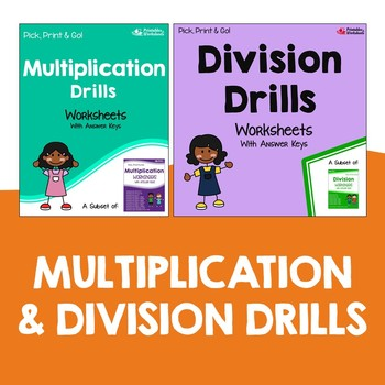 Connecting Multiplication And Division Drill Activity Worksheets