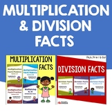 Math Fluency Multiplication And Division Facts Worksheets