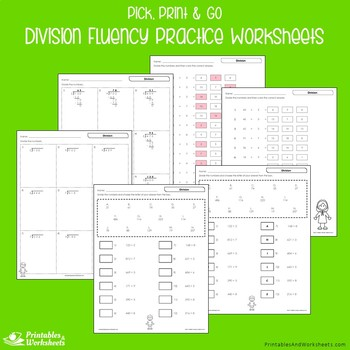Multiplication And Division Fluency Worksheets