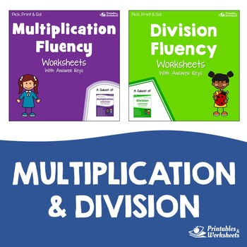Related Facts Multiplication Division Fluency Worksheets