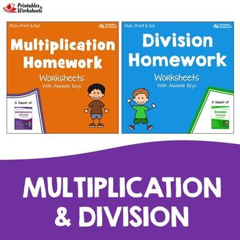Long Multiplication And Division Homework Worksheets