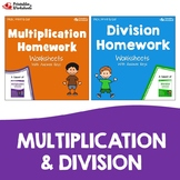 Long Multiplication & Division Homework Sheets, Multiply & Divide Large Numbers