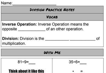 Multiplication And Division Lessons