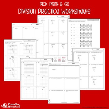 Math Worksheets For Multiplication And Division Practice Worksheets