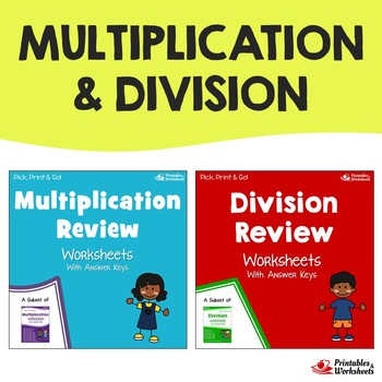 Multiplication Division Review Worksheet Teaching Resources ...