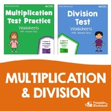 Multiplication And Division Test Prep Worksheets