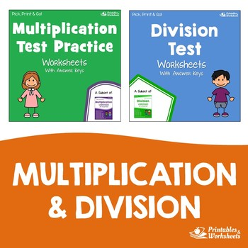 Multiplication And Division Test Prep Worksheets