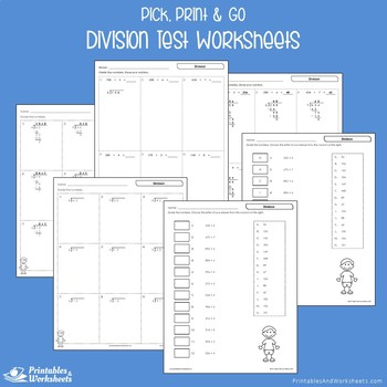 Mixed Multiplication And Division Pretest Worksheets