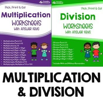 Math Fluency Worksheets Teaching Resources Teachers Pay Teachers