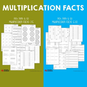 Math Fluency Multiplication And Division Worksheets Practice, Assessment