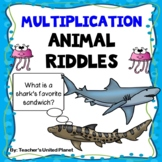 Multiplication Riddles - Animal Themed!